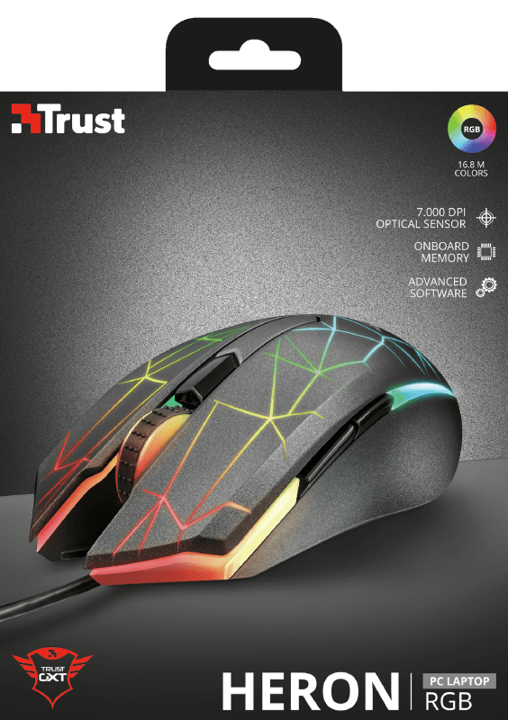 Mouse Gamer Trust GXT 170 Heron RGB 7000DPI