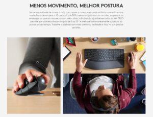Mouse Logitech MX Ergo Sem Fio Recarregável Unifying 440DPI