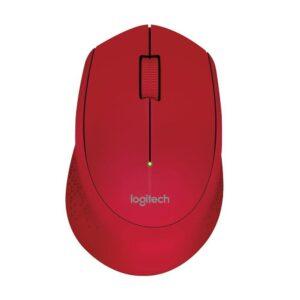 Mouse Logitech Sem Fio M280 Vermelho 1000DPI
