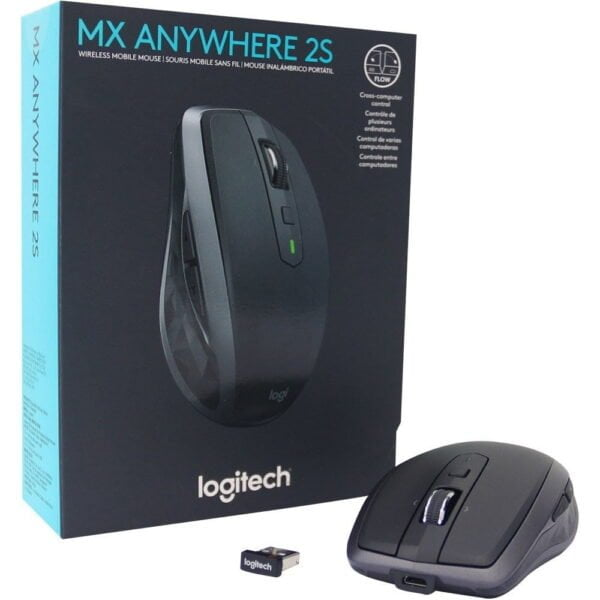 Mouse Logitech Sem Fio MX Anywhere 2S Recarregável Flow Unifying 4000DPI