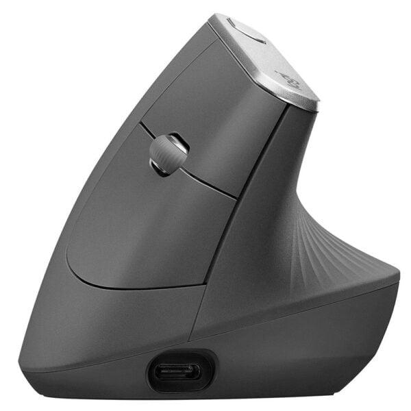 Mouse Logitech Sem Fio MX Vertical Recarregável Flow Unifying 4000DPI
