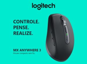 Mouse sem fio Logitech MX Anywhere 3, USB Unifying ou Bluetooth P/ Mac, iPad, PC, Linux - Preto - 910-005992