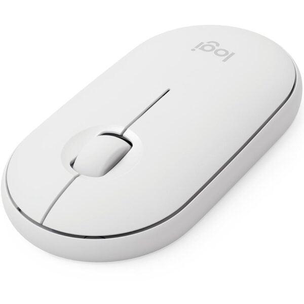 Mouse Sem Fio Logitech Pebble M350 Branco Unifying