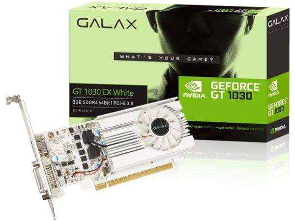 Placa de Vídeo Galax Geforce GT 1030 2GB DDR4 64BITS