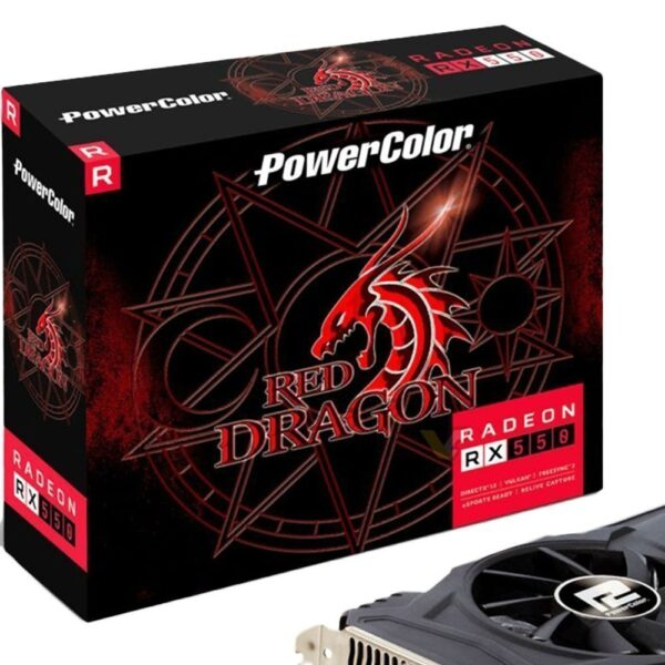 Placa de Vídeo PowerColor Radeon RX 550 4GB DDR5 128BITS