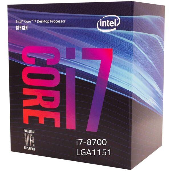 Processador Intel Core i7-8700 Coffee Lake 12MB Cache LGA 1151 3.2GHz - BX80684I78700