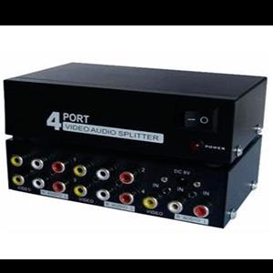 Splitter AV (RCA) 1 Entrada e 4 Saídas (1x4)