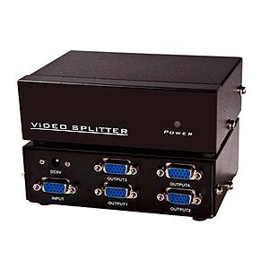 Splitter Divisor VGA 1 Entrada e 4 Saidas (1x4)