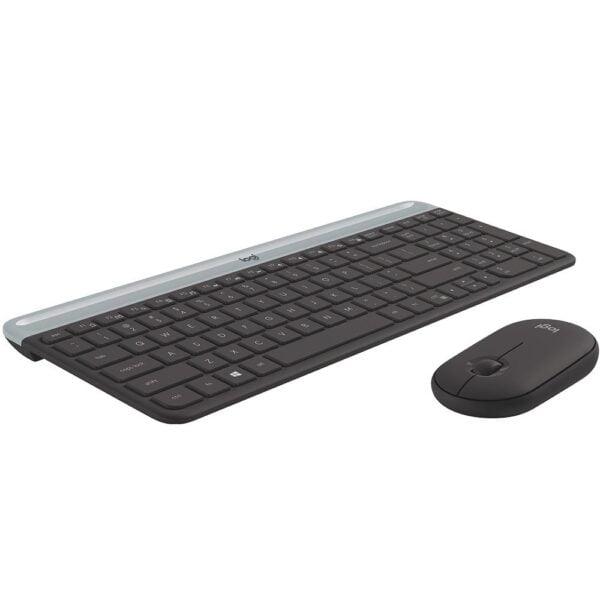Teclado e Mouse Logitech Slim Ultrafino - MK470