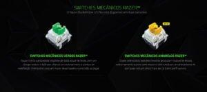 Teclado Gamer Mecânico Razer Sem Fio BlackWidow V3 Pro, Chroma, Switch Green - US