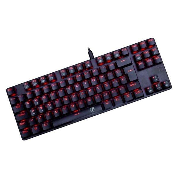 Teclado Gamer Mecânico T-Dagger Bora - LED Vermelho, Switch Blue