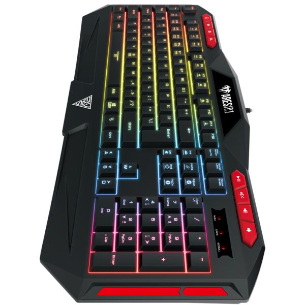 Teclado Gamer RGB 7 Cores Gamdias Ares P1 Abnt2