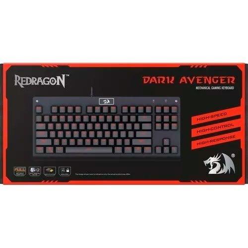 Teclado Mecânico Gamer RGB Switch Blue Redragon Dark Avenger K568 ABNT2