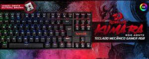 Teclado Mecânico Gamer Rgb Switch Brown Redragon Kumara K552 Abnt2