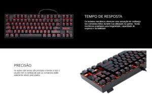 Teclado Mecânico Gamer Switch Brown Redragon Kumara K552 Abnt2