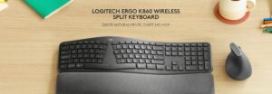 Teclado Sem Fio Logitech Ergo K860 Bluetooth - US
