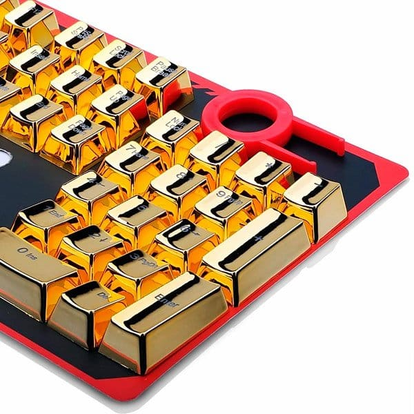 Teclas Customizadas Douradas Para Teclados Redragon - A101G