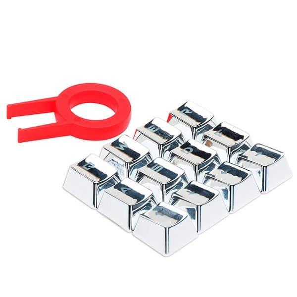 Teclas Customizadas Prateadas Para Teclados Redragon – A103S