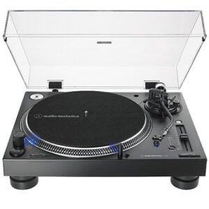 Toca Discos Profissional Para DJ Manual 3 Velocidades Audio-Technica - AT-LP140XP-BK