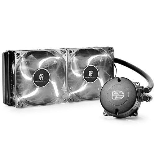 Water Cooler DeepCool Branco 240mm Maelstrom 240T –  DP-GS-H12RL-MS240TWF