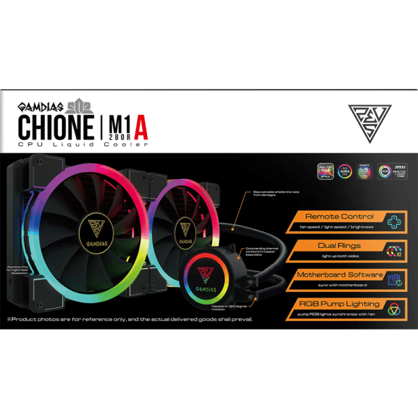 Water Cooler RGB Gamdias Chione 240mm M1A-280R Intel e Amd
