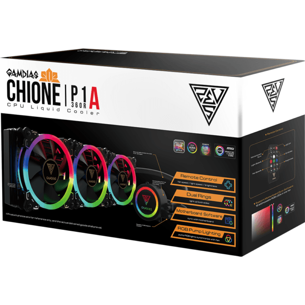 Water Cooler RGB Gamdias Chione 360mm P1A-360R Intel e Amd