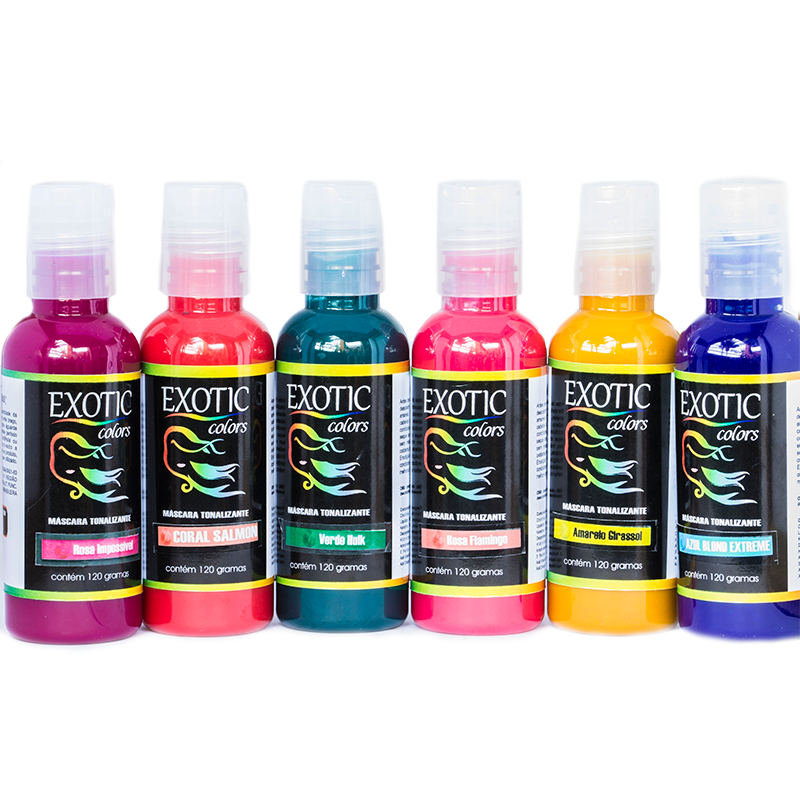 combo favoritos exotic colors - 6 cores • exotic colors brasil