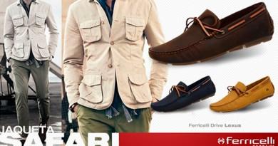 Jaqueta Safari para homens