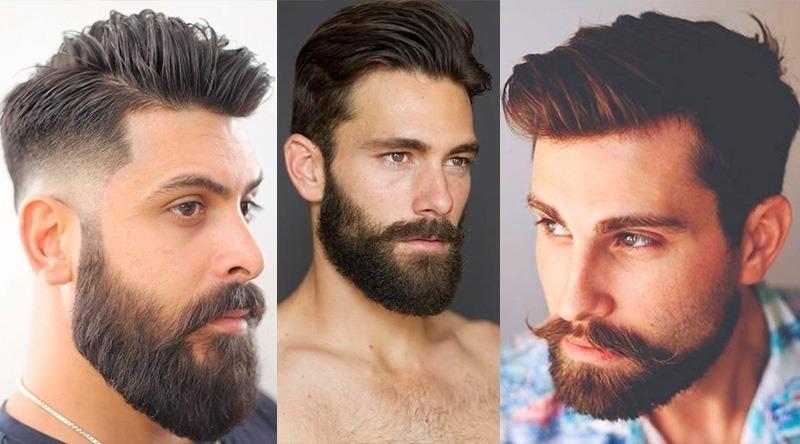 Barba volumosa na área do queixo e pescoço