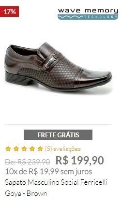 Sapato Masculino Social Ferricelli Goya - Brown