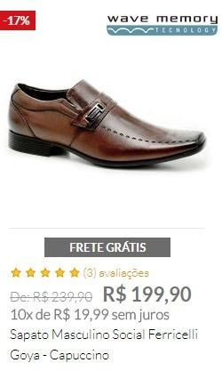 Sapato Masculino Social Ferricelli Goya - Capuccino
