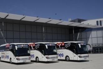 viajando de ônibus na europa