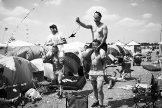 acampar em festival