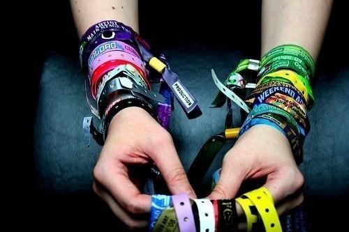 pulseira de festival