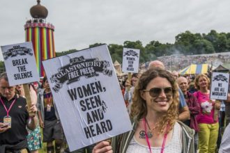 empoderamento de mulheres em festivais