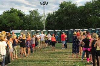 banheiros unissex em festivais