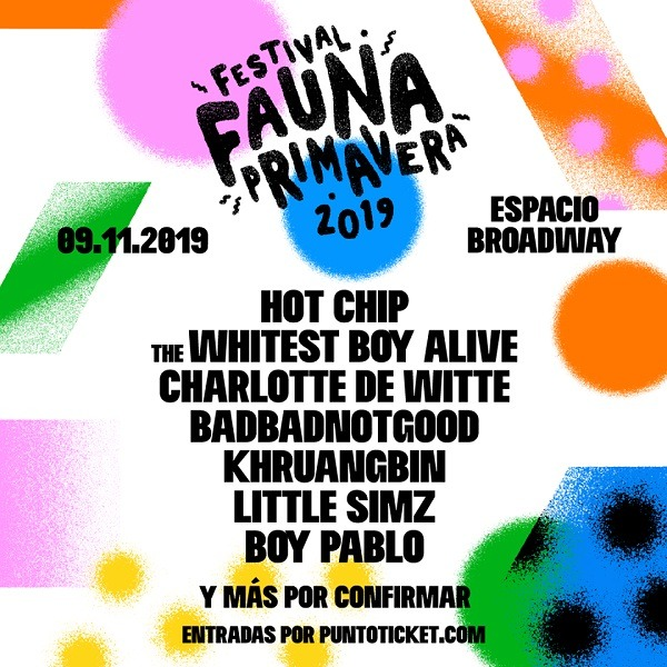 lineup primavera fauna 2019