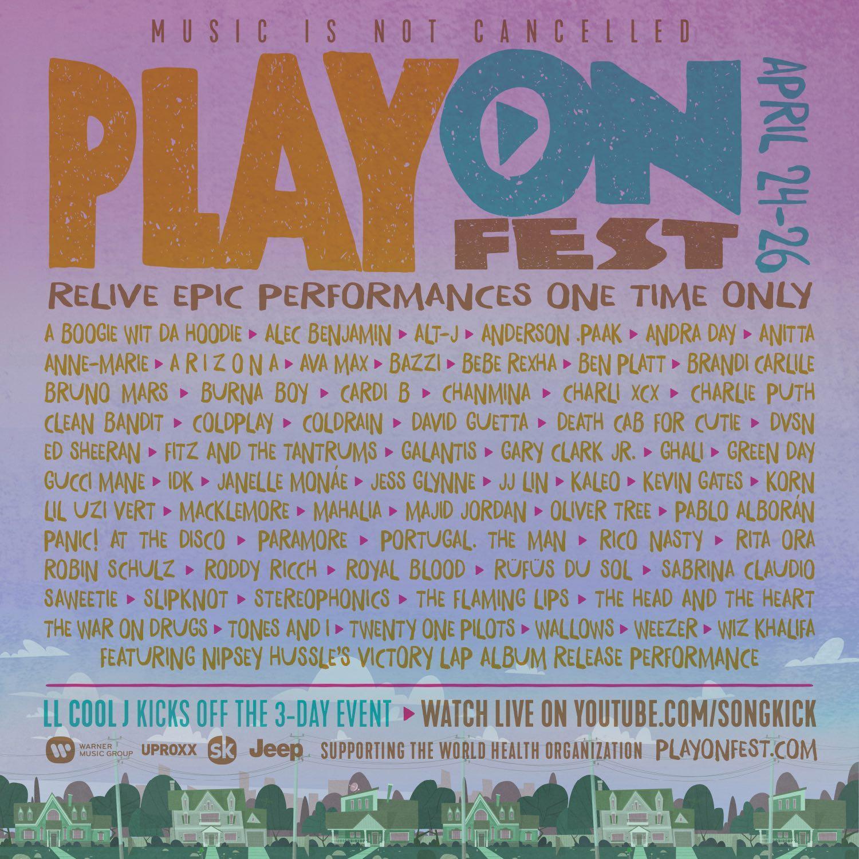 play on fest lives do fim de semana