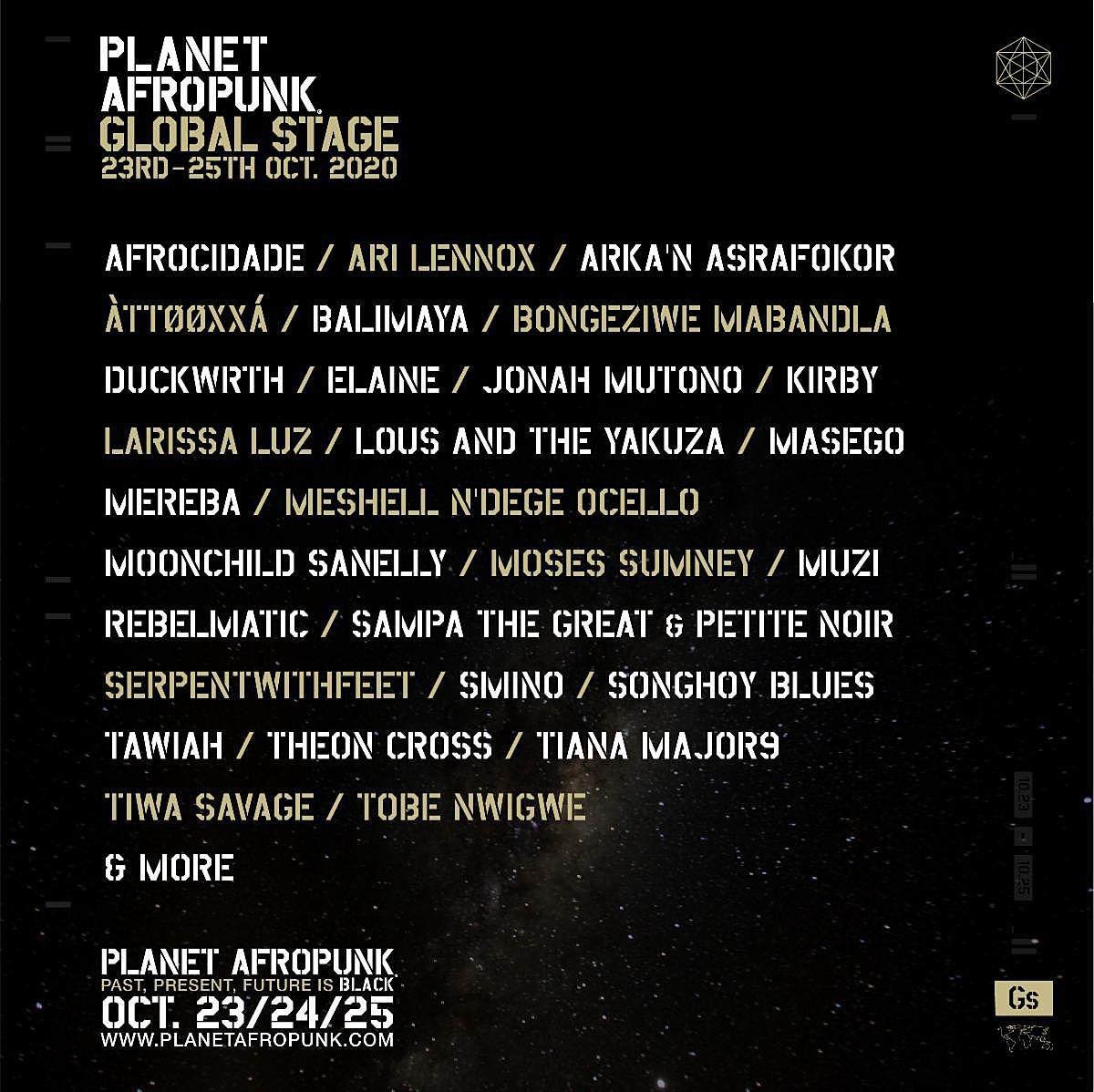 afropunk lineup 2020