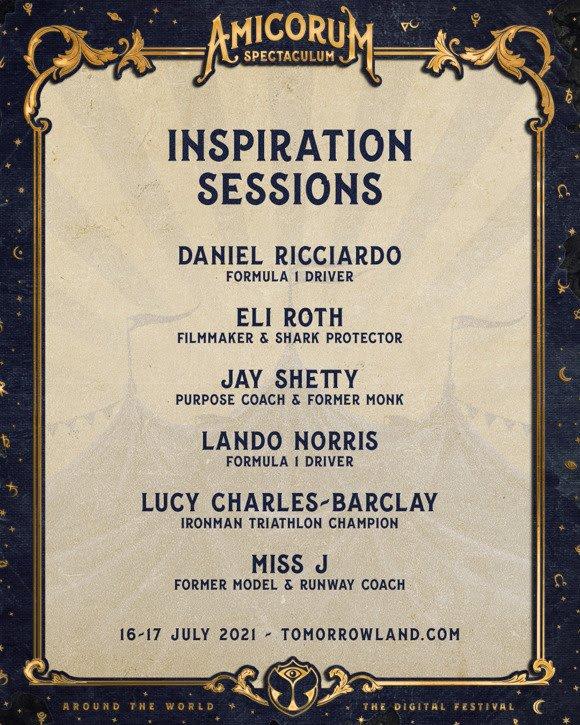 tomorrowland around the wolrd 2021 lineup das sessões de inspiração