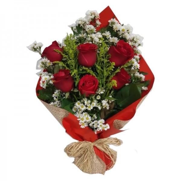 buquê 6 rosas