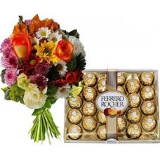Mixed Flowers & Ferrero