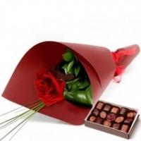 Single Rose & Choco