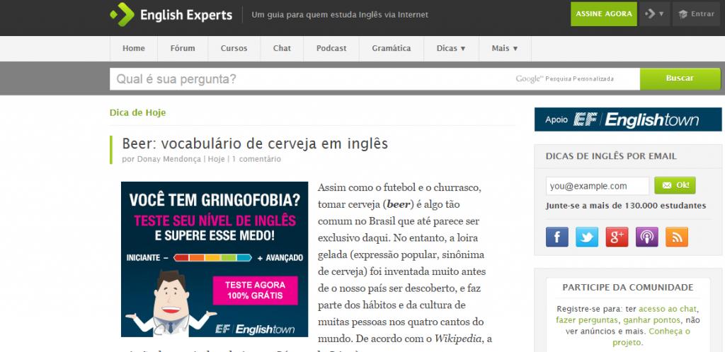 Blogs de Inglês