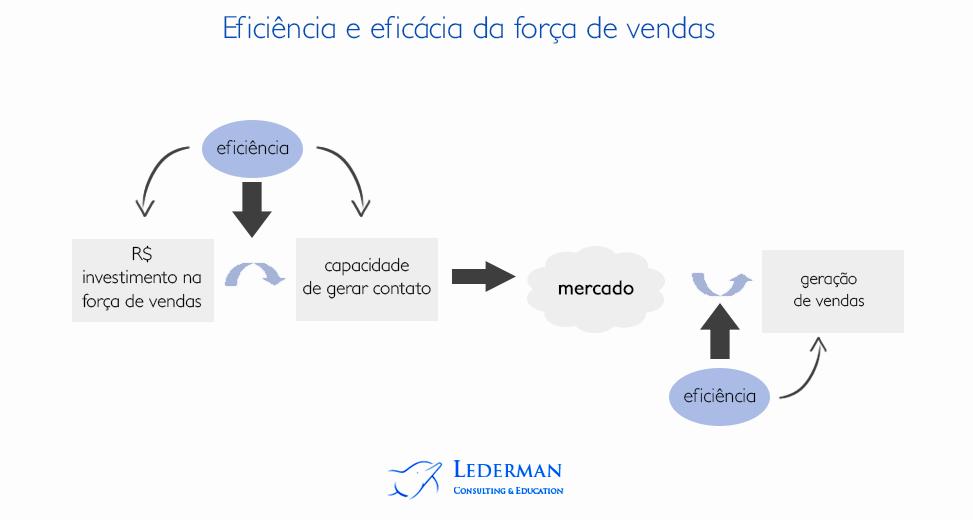 Eficiência e eficácia da força de vendas