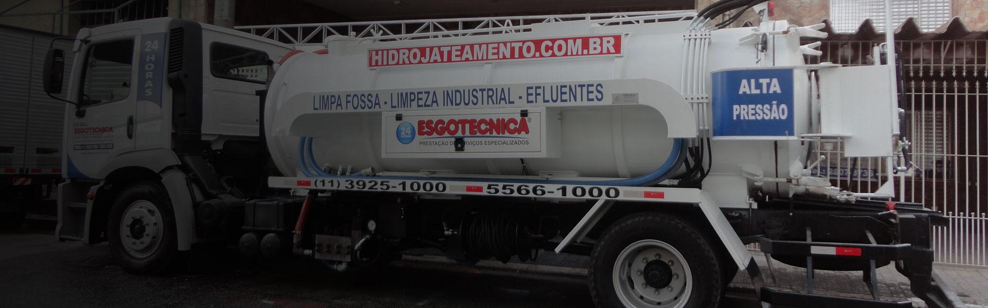 CAMINHÃO HIDROJATEAMENTO