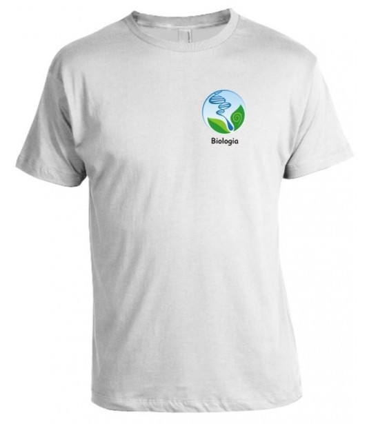 Camiseta Universitária Biologia Bordada