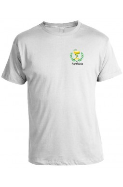 Camiseta Universitária Farmácia - Modelo 02 - Bordada
