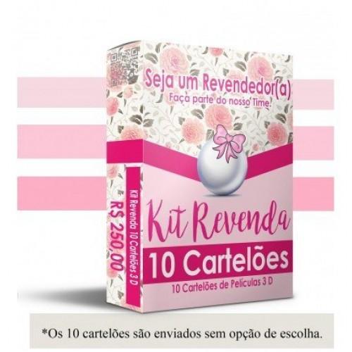 Kit Revenda com 10 Cartelões 3D