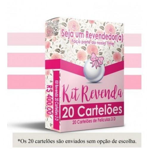 Kit Revenda com 20 Cartelões 3D